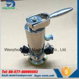 Válvula pneumática da amostra de Aspetic do aço inoxidável