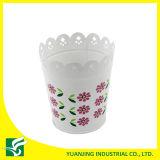POT di fiore intagliato metallo domestico bianco del giardino