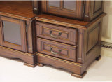 Шкаф TV мебели живущий комнаты большой деревянный (GSP15-004)
