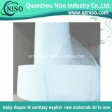 Hydrophilic N.W. Stof SSS voor Grondstoffen Niet-geweven Topsheet van de Luiers van de Luier van de Baby de Volwassen
