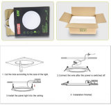 luz de painel redonda do diodo emissor de luz 3W com CE RoHS aprovado