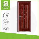 Sola puerta del hierro del diseño de la puerta de la seguridad de Zhejaing
