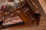 旧式な彫刻TVの立場LEDのホーム家具の電気暖炉(325S)