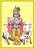 Feuilles de clinquant d'or pour l'illustration de Dieu de l'Inde