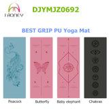 Le laser de couvre-tapis de yoga d'unité centrale Polyuethane gravent l'adhérence grande de configuration sèche-et-humide