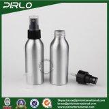 do uso industrial cosmético de alumínio de prata do atomizador da cor de 100ml 3.3oz frasco de alumínio vazio Refillable do pulverizador do perfume 100ml do frasco