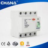 Elektromagnetische 4p Residual Current Circuit Breaker 500V 63A 50A RCCB