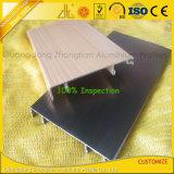 Ligne en aluminium de brossage multicolore profil de coin d'extrusion avec des composants