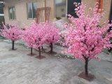 Árvore de flor de seda artificial de flores de pêssego