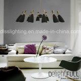 居間のための高品質のDroplight鉄およびアルミニウムDecorotionの現代シャンデリア