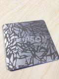 piatto decorativo dello strato dell'acciaio inossidabile di colore 201 304 316 con acquaforte Finsh dello specchio 8k