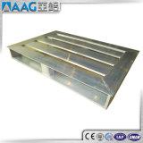 Fournisseurs d'usine soudant la palette en aluminium faite sur commande empilable