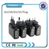 Переходника заряжателя стены USB Rcm 4 портов Approved