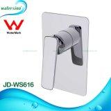 Accessori della stanza da bagno caldi e miscelatore dell'acquazzone del nero dell'acqua fredda