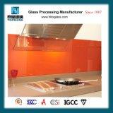 Горячими стекло подгонянное сбываниями печатание легкое чистое Tempered Splashback для кухни