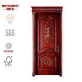 Puerta de madera interior delantera de madera natural para los hogares (GSP2-069)
