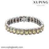 O bracelete o mais novo do diamante da forma da platina 74721 com os cristais da jóia de Swarovski