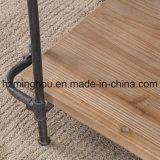 Fabrik-umreiß Wholesales Metall und Holz die 3 Schicht-Bildschirmanzeige-Regal