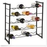 Ретро медь штанги шкафа держателя хранения стеклянной бутылки пива вина свободно стоящая