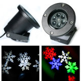 Mini proiettore esterno impermeabile del partito di paesaggio dell'indicatore luminoso del fiocco di neve di IP65 LED