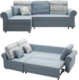 Base di sofà del tessuto delle tre sedi con memoria della palude e del Chaise