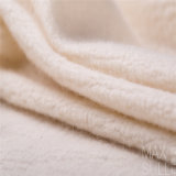 Tela de las lanas de la colada de la máquina del 100% para el otoño en blanco