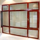 متأخّر بيتيّ نافذة تصميم ألومنيوم إطار يليّن زجاجيّة مزدوجة يعلّب فتاحة نافذة