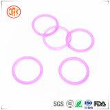 A borracha translúcida roxa do silicone sela o anel-O