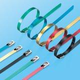 Selbstverschluss-Kleber-überzogener Edelstahl-Kabelbinder mit Gleichheit-Hilfsmittel