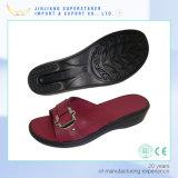 Sandali con la tomaia dell'unità di elaborazione, pattini del pistone della trasparenza di EVA del cuneo delle calzature delle donne