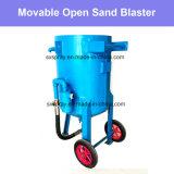 De efficiënte Beweegbare Open Zandstralende Hoge Efficiency van de Zandstraler van het Zand van de Machine Goedkope