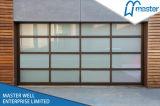 緩和されたガラスの部門別のガレージのドアか絶縁されたアルミニウムガラスガレージのドア