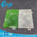 El panel de aluminio impreso foto de los materiales de construcción de la construcción para la pared interior