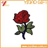 Escritura de la etiqueta de la ropa y divisa de encargo del bordado, corrección tejida (YB-HR-393)