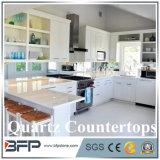 De Bouwmaterialen poetsten de Witte TegenBovenkanten van het Kwarts van de Kleur Kunstmatige voor Keuken op