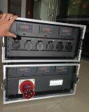 Pequeño estante de la potencia con los conectores de potencia de Chile