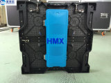 Cabina de aluminio de fundición a presión a troquel de alta resolución de interior de la visualización de LED del vídeo P3.91 500*500