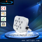 직업적인 단계 점화 6pcsx18W RGBWA UV 건전지 원격 제어 무선 LED 점화가 휴대용 디스코 Laser 당에 의하여 점화한다