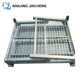 Palette en acier rigide de cage de mémoire pliable et empilable par galvanisé