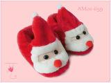 Deslizadores de interior animales de las nuevas de la Navidad de las señoras de la manera ovejas suaves rojas de la felpa