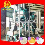 Linha da fábrica de moagem do milho com o moinho de farinha do milho das máquinas de embalagem
