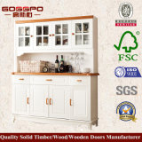 Белый шкаф вина домочадца краски (GSP9-048)