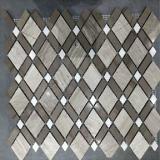 ひし形パターンが付いている石造りのモザイク床のタイル