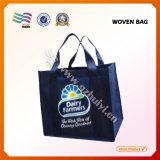 Sacs non tissés de jaune avec le logo personnalisé (HYbag 012)