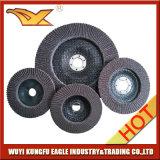 discos abrasivos de la solapa del óxido de la calcinación de 125m m (cubierta de cristal 26*16m m de fibra)