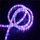 Décoration de mariage 2 fils de changement de lumière ronde à LED