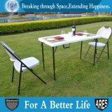 半分折白いの居間のHDPE 4FTの折りたたみ式テーブル