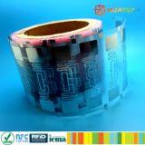 Étiquette imprimable d'IDENTIFICATION RF de fréquence ultra-haute de H3 de l'étranger 9662 de l'adhésif G2 pour la gestion de patrimoine