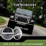 """熱い販売7 """"ジープWrangler&#160のためのLED;  LED Ring&#160が付いているLEDのヘッドライト;"""