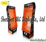 Positions-Pappfußboden-Ausstellungsstand mit Haken, Einzelverkaufs-Bildschirmanzeige für Förderung (B&C-B050)